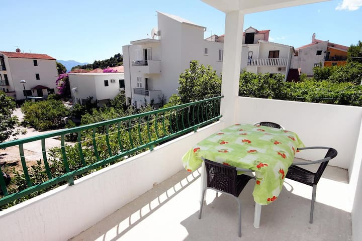 Studio flat with terrace and sea view Drvenik Donja vala, Makarska (AS-6701-g)