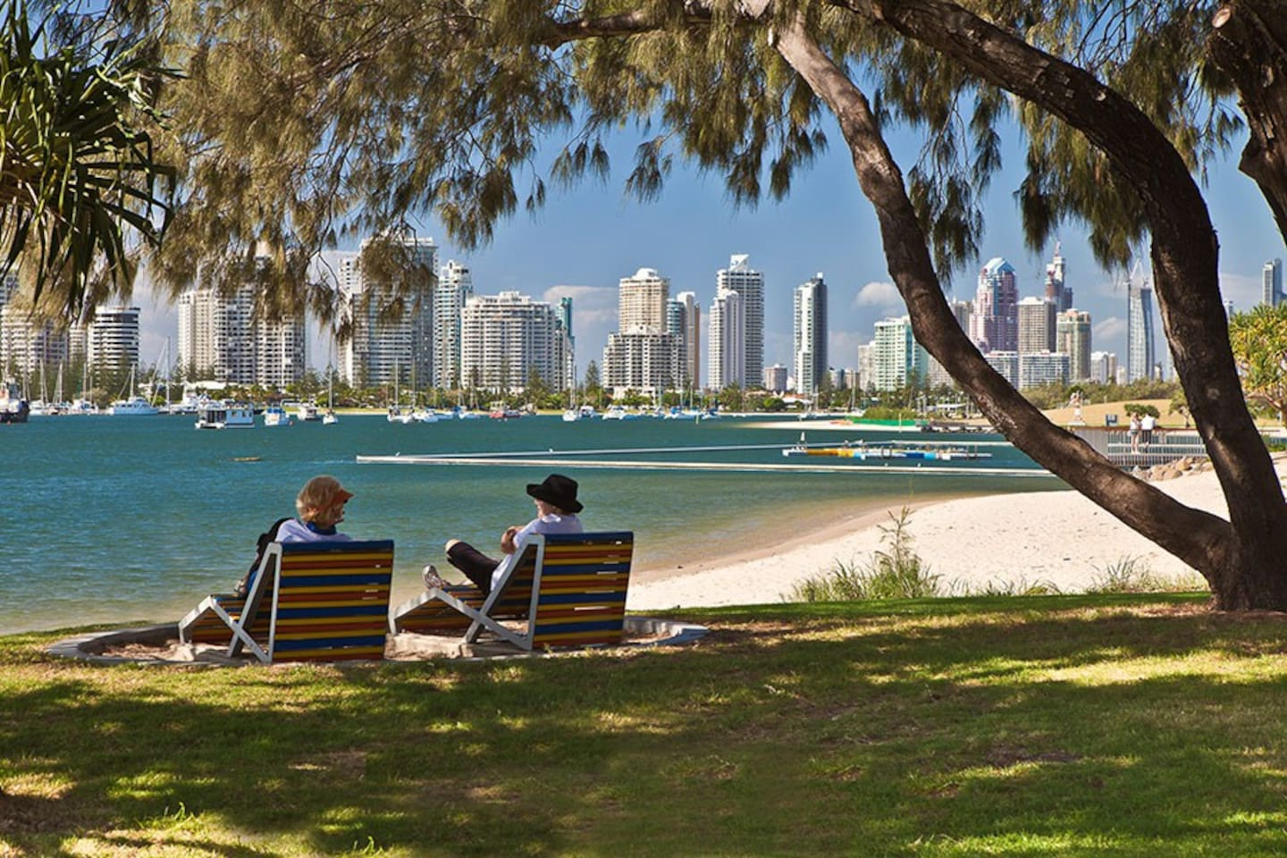 Broadwater Parklands is a stroll, or a short tram ride away and offers a range of activities and gorgeous views of the city skyline
