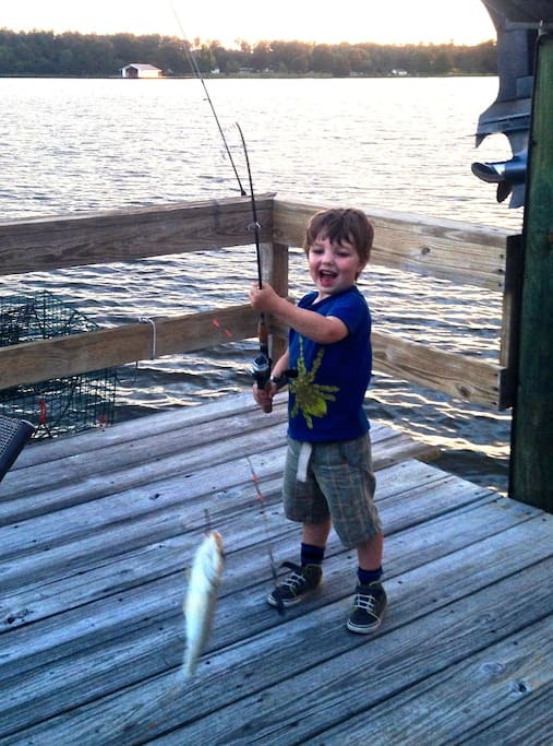 Great fishing from the dock.