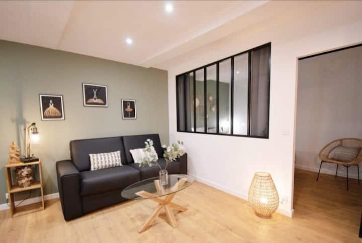 Nouveau appartement beau et cosy en cv 2 couchages