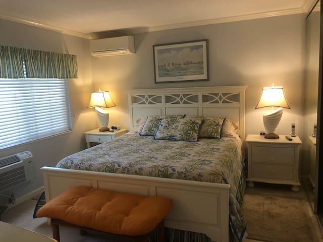 Cozy bedroom with Big Screen TV too...