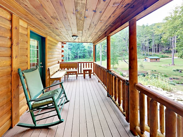 Relax Southern style -- kick back on the back porch and sip iced tea in a rocking chair.