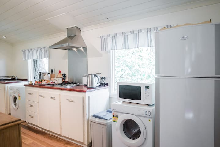 Your kitchen space comes completely self-contained with everything you need so you can stay for a night, a week or a month.