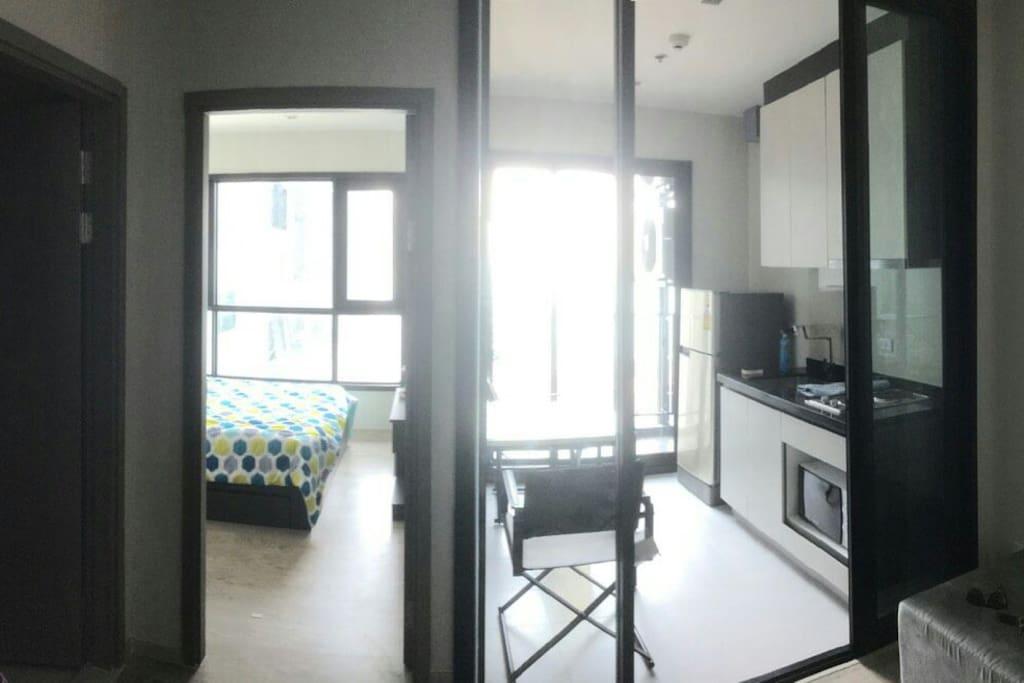 One bedroom, One Kitchen room, One Bathroom