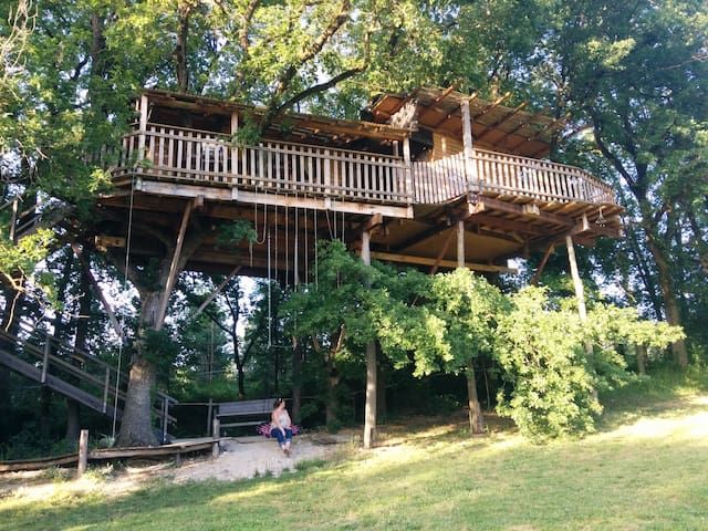TreeHouse in South West of France. - Montignac-de-Lauzun - Trädhus