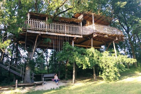 TreeHouse in South West of France. - Montignac-de-Lauzun - Ağaç Ev