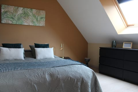 Chambre privative au bord de Loire