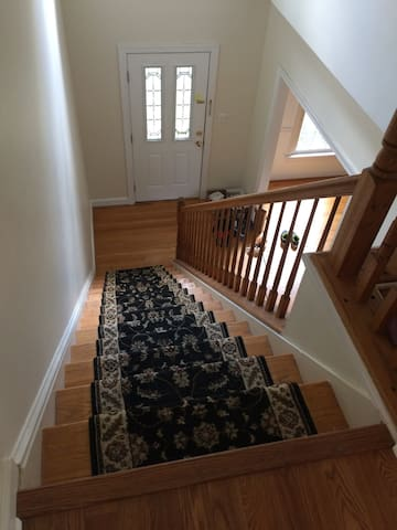 Main level to 2nd floor stairs