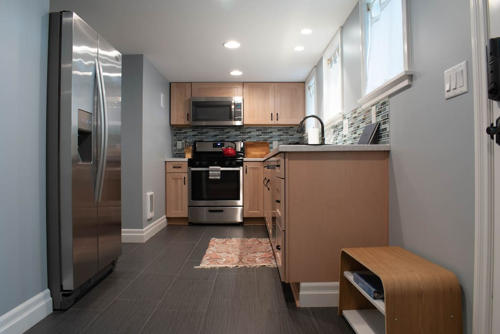 Full kitchen with everything you need in a home away from home!