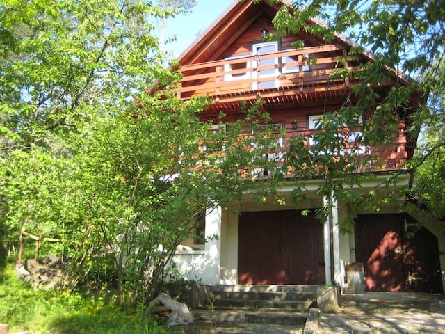 Ein  ruhiges Haus am See in  Kaszubien, im Wald. - Gołubie - Casa