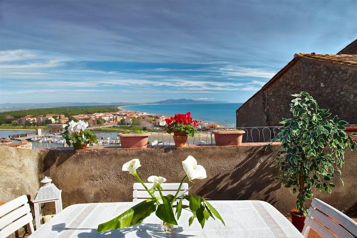 San Simone, appartamenti con vista mare