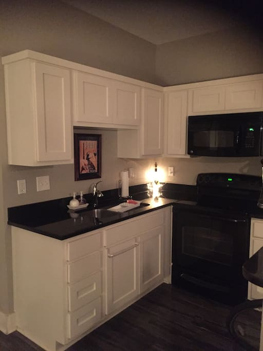 Kitchen nook with microwave & oven