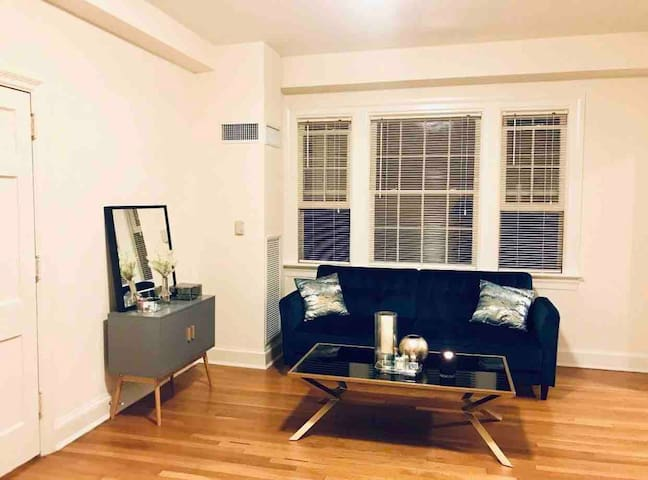 Large studio in luxury building near Marriott/Omni