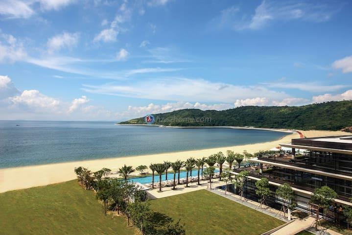 深圳东部华润小径湾一线海景度假套房,13楼一室一厅超大阳台 - Huizhou Shi - Huoneisto