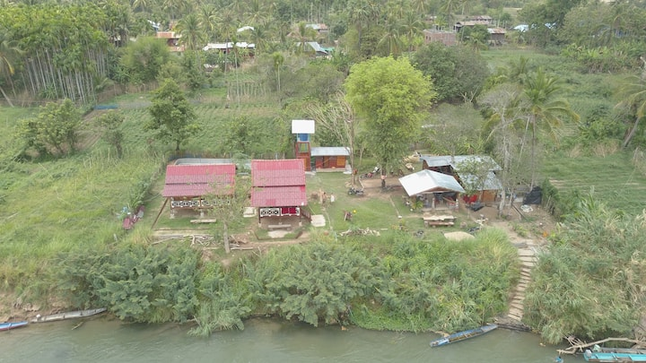 Island experience in a traditional village in Laos
