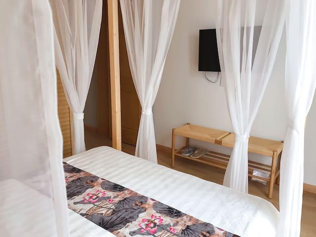 新中式 床缦 架子床