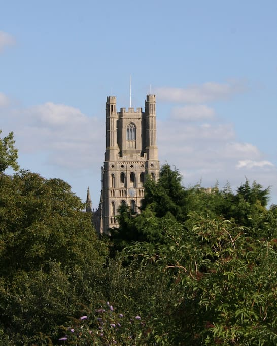 This is the view from the  back garden!  Great views of the cathedral.  Easy access to the city