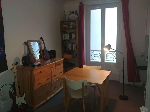 Charming studio in Paris