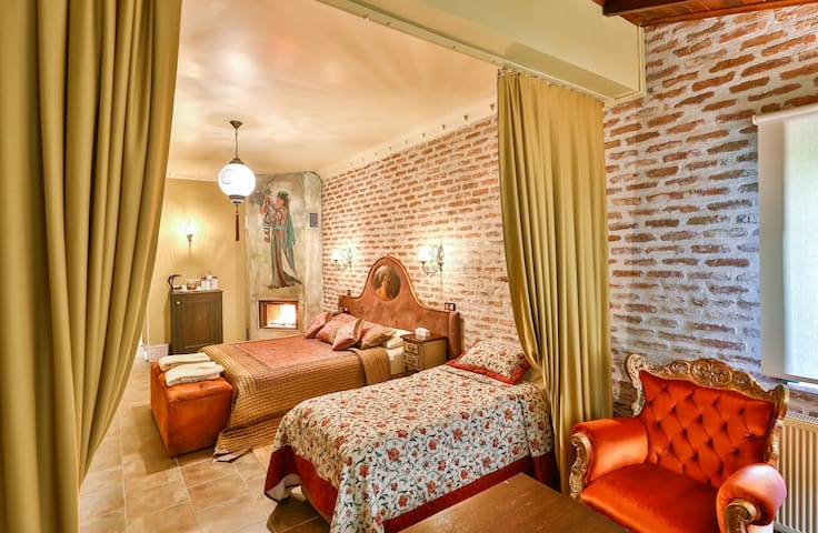 Delüks Oda Şömineli | Çetmihan Hotel | Kazdağları