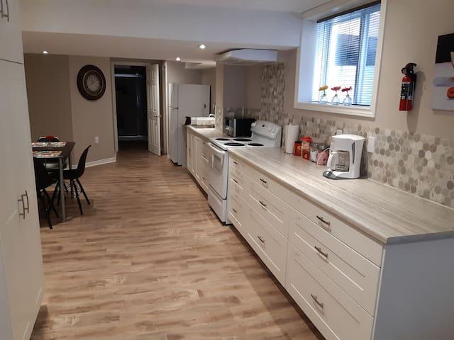 Kitchener bright and  modern basement apartment