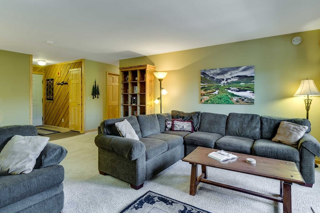 Living Room Toward Entry - Very Spacious with Lots of Light and Great Furnishings