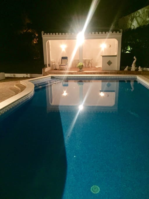 The pool and summer house