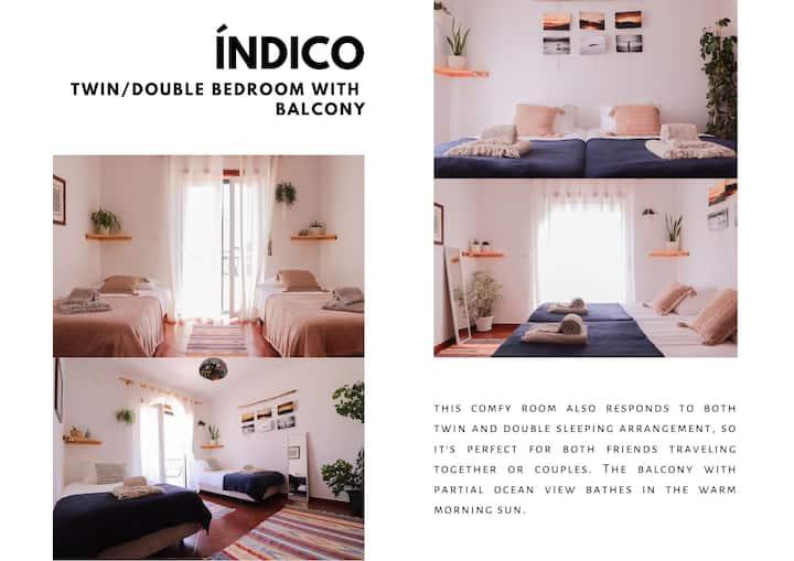 Beach House_Twin/double room with balcony