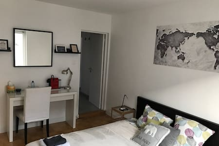 Nice big room with private bathroom and toilet - Fegersheim - Rekkehus