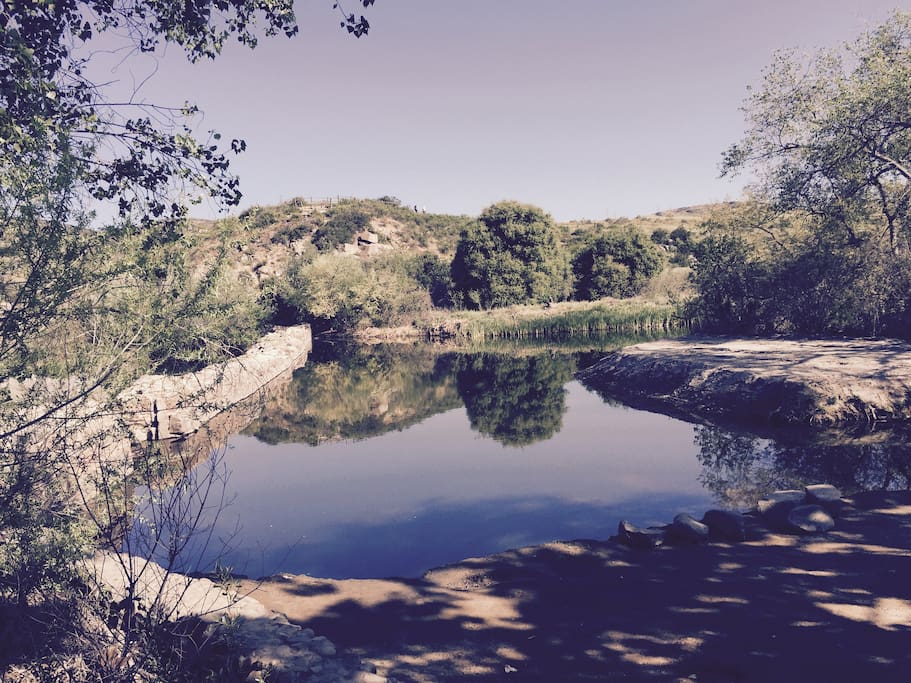 Mission trails dam (5 min walk)