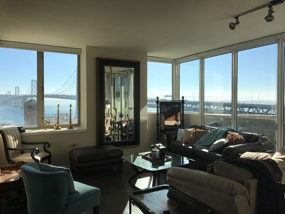 Shared Living Area with Bay Bridge Views