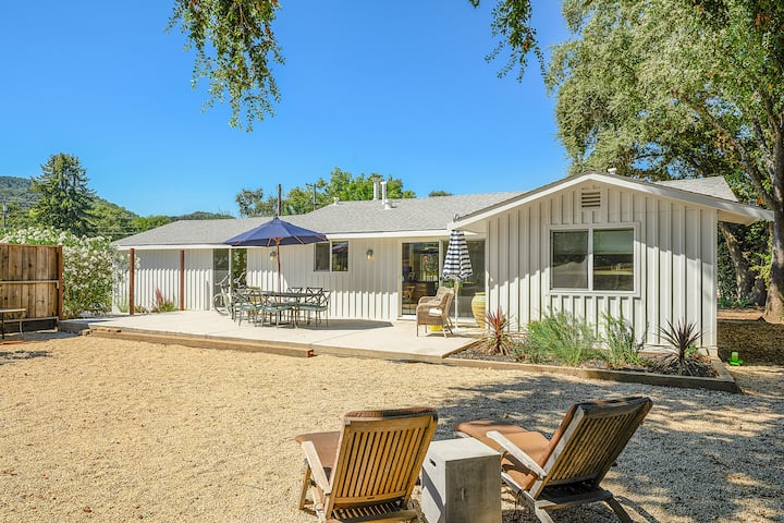 Newly renovated Farmhouse bordering Yountville