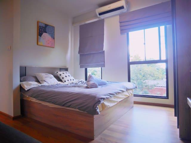 曼谷bts bearing/三头神像博物馆/独立卫生间/比青年旅舍还便宜的超美公寓009