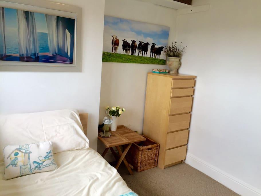 Good-sized, bright single room