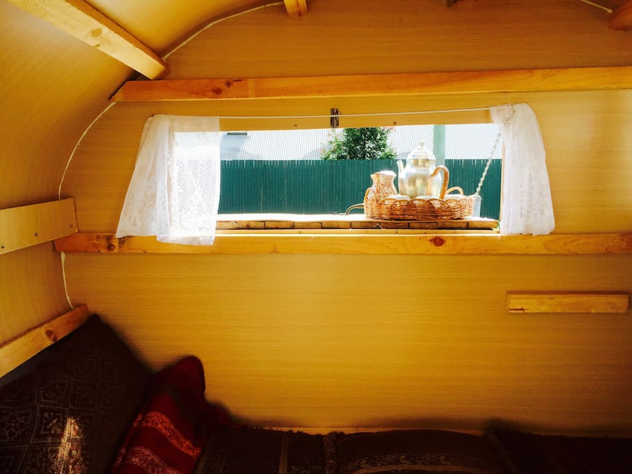 Inside your cosy caravan