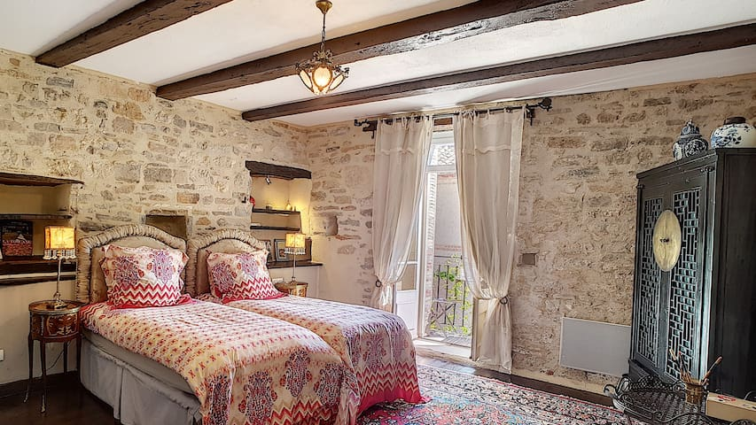 Double room-Le sirop du jardin-Countryside view