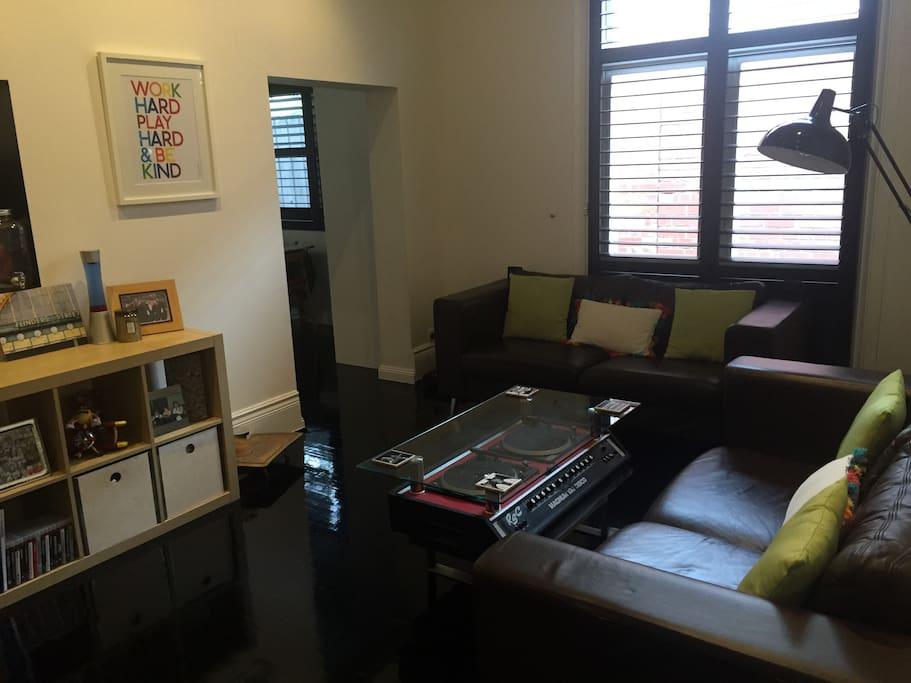 Modern Lounge with TV Usage