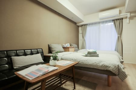 1 min to train station,Shinjuku new lux apartment - Shinjuku-ku - Huoneisto