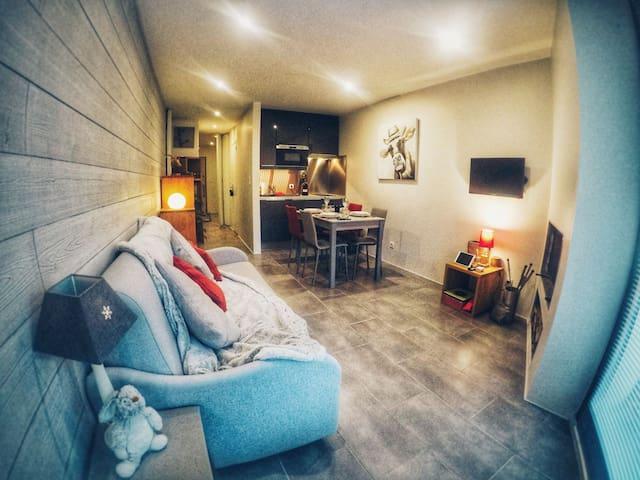 Studio cozy au pied des pistes & vue montagnes
