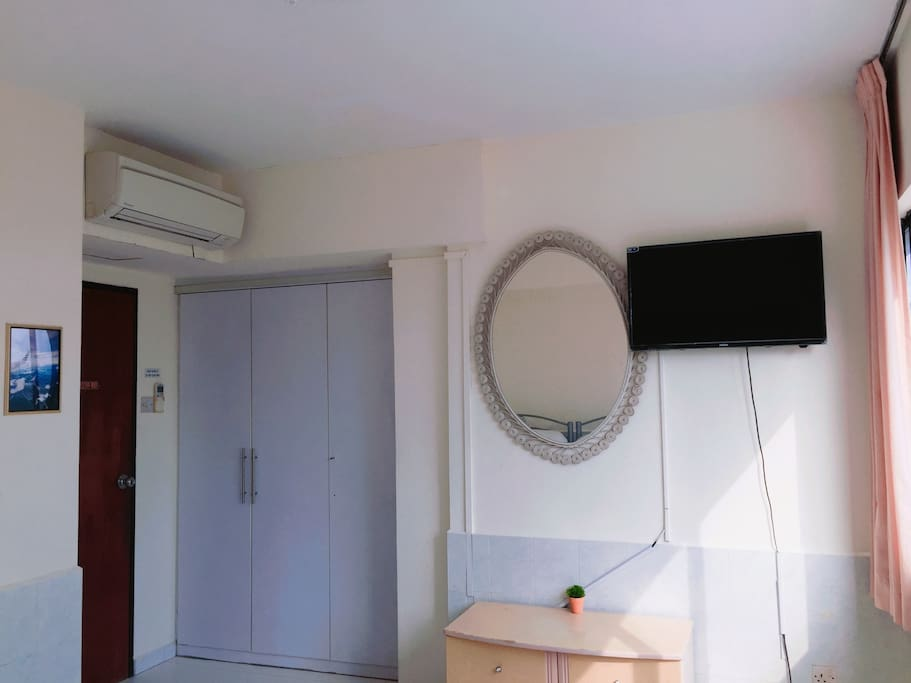 Room 7: 3 single beds (TV and AC inside)