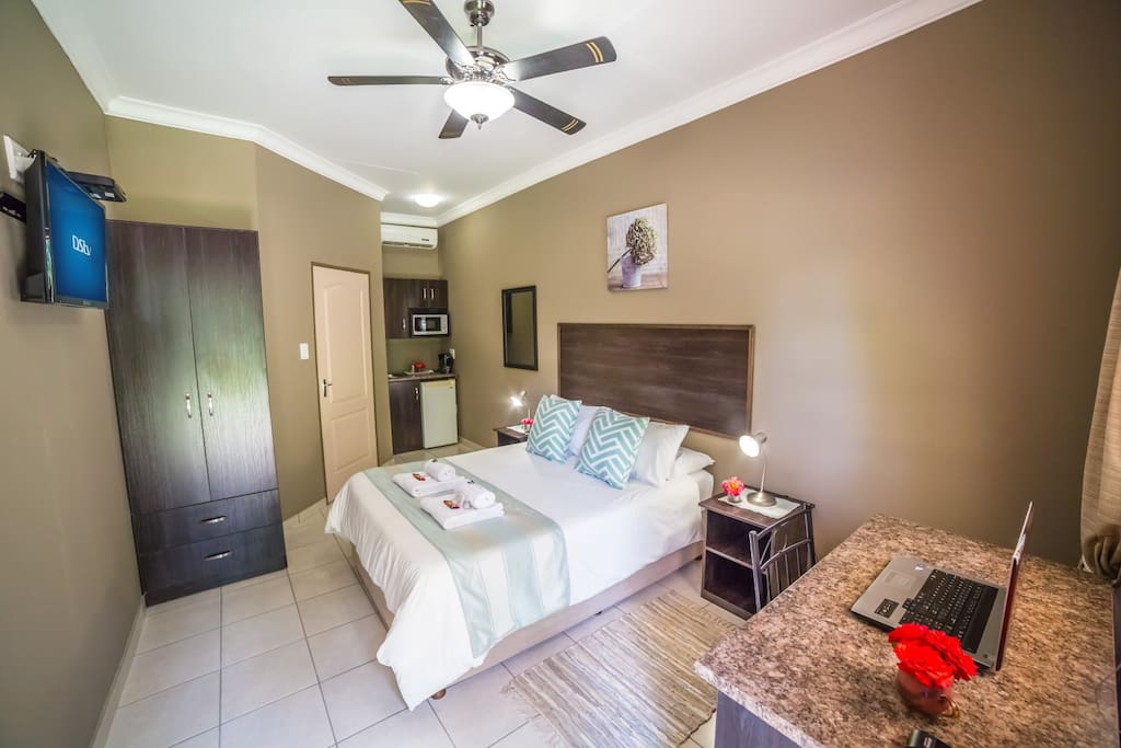 Fully equipped, spacious room