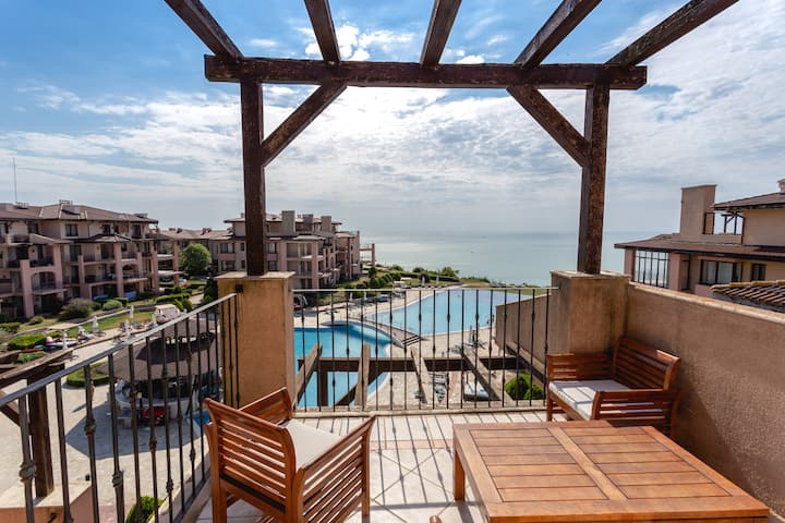 Sea view 2-bed apartmetn at complex Kaliakria, #63
