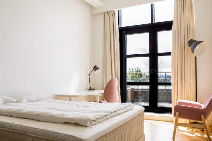 Modern Loft Room with Private Bath