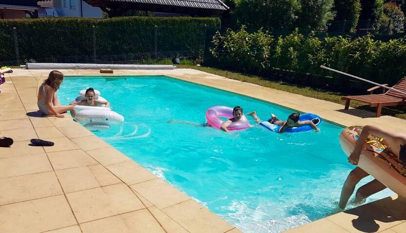 Maison en Alsace avec piscine