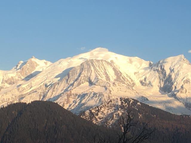 Charmant Appartement Face au Mont Blanc