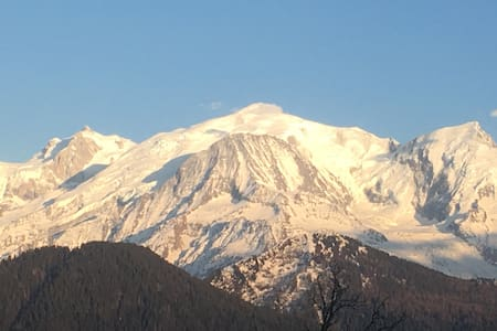 Charmant Appartement Face au Mont Blanc