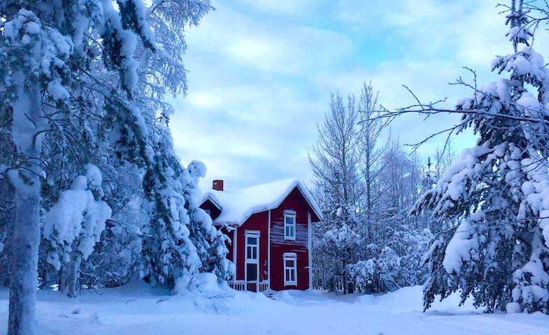 Unique 1830's wooden house in Lapland