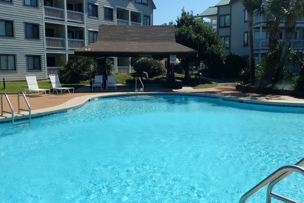 Pool right outside unit.