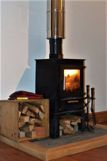 Welcoming woodburner