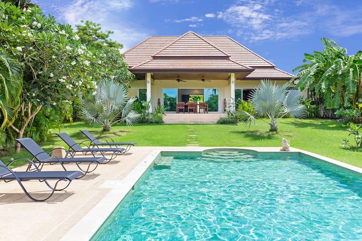 超好的度假别墅,超大的热带花园及泳池!