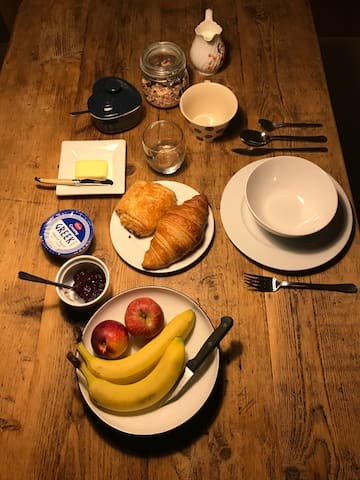 Breakfast included in the room rate.
